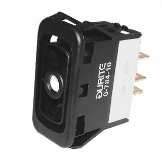 0-784-10 Durite On-Off-On Single Pole Rocker Switch Body Non-Illuminated
