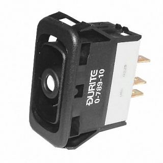 0-789-10 Durite On-On-On Single Pole Rocker Switch Body Non-Illuminated