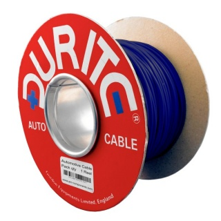 0-930-02 100m x 1.50mm² Blue 21A Single Core Thin Wall Auto Electric Cable