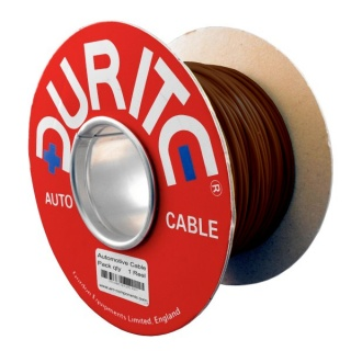 0-930-03 100m x 1.50mm² Brown 21A Single Core Thin Wall Auto Electric Cable