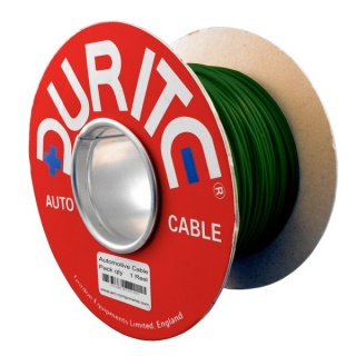 0-930-04 100m x 1.50mm² Green 21A Single Core Thin Wall Auto Electric Cable