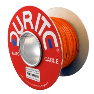 0-930-10 100m x 1.50mm² Orange 21A Single Core Thin Wall Auto Electric Cable