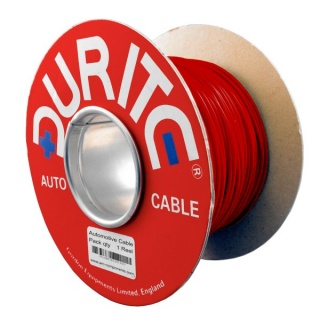 0-931-05 100m x 0.75mm² Red 14A Single Core Thin Wall Auto Electric Cable