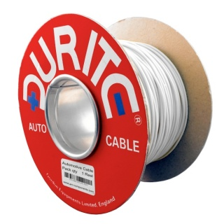 0-931-07 100m x 0.75mm² White 14A Single Core Thin Wall Auto Electric Cable