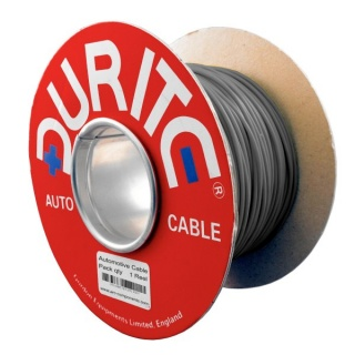 0-931-09 100m x 0.75mm² Grey 14A Single Core Thin Wall Auto Electric Cable