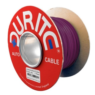 0-932-06 100m x 1.00mm² Purple 16.5A Auto Single Core Cable