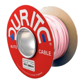 0-932-11 100m x 1.00mm² Pink 16.5A Auto Single Core Cable