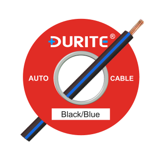 0-932-12 100m x 1.00mm² Black-Blue 16.5A Auto Single Core Cable