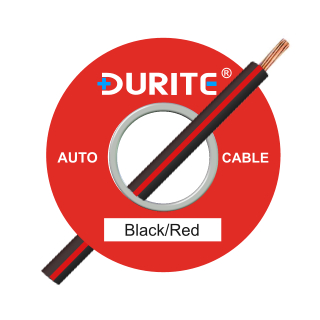 0-932-15 100m x 1.00mm² Black-Red 16.5A Auto Single Core Cable