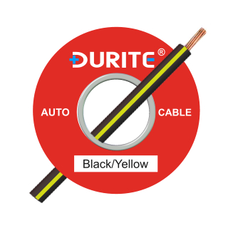 0-932-18 100m x 1.00mm² Black-Yellow 16.5A Auto Single Core Cable