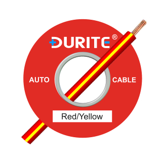 0-932-58 100m x 1.00mm² Red-Yellow 16.5A Auto Single Core Cable