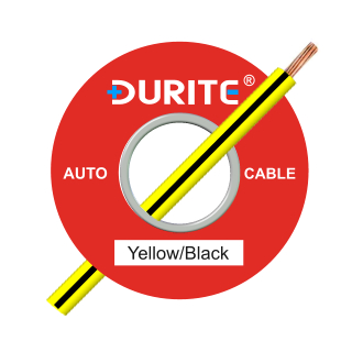 0-932-81 100m x 1.00mm² Yellow-Black 16.5A Auto Single Core Cable