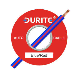 0-933-25 100m x 2.00mm² Blue-Red 25A Auto Single Core Cable