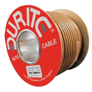 0-937-03 30m x 6.00mm² Brown 50A Single Core Thin Wall Auto Electrical Cable