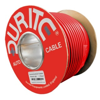 0-937-05 30m x 6.00mm² Red 50A Single Core Thin Wall Auto Electrical Cable