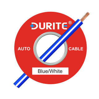 0-942-27 50m x 1.00mm² Blue-White 8.75A Auto Single Core Cable
