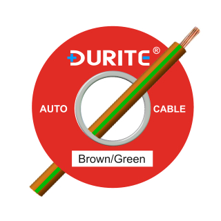 0-942-34 50m x 1.00mm² Brown-Green Auto Single Core Cable