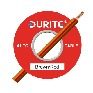 0-942-35 50m x 1.00mm² Brown-Red 8.75A Auto Single Core Cable