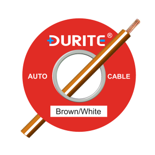 0-942-37 50m x 1.00mm² Brown-White 8.75A Auto Single Core Cable