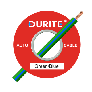 0-942-42 50m x 1.00mm² Green-Blue 8.75A Auto Single Core Cable