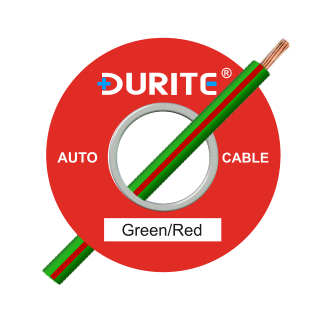 0-942-45 50m x 1.00mm² Green-Red 8.75A Auto Single Core Cable