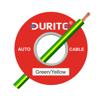 0-942-48 50m x 1.00mm² Green-Yellow Auto Single Core Cable