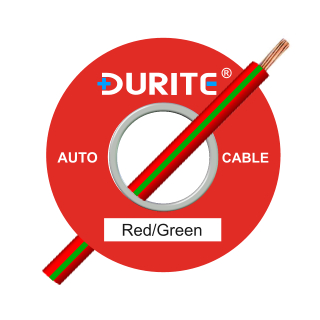 0-942-54 50m x 1.00mm² Red-Green 8.75A Auto Single Core Cable