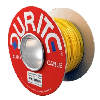 0-943-08 50m x 2.00mm² Yellow 17.5A Auto Single Core Cable