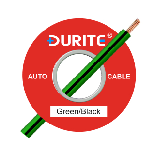 0-943-41 50m x 2.00mm² Green-Black 17.5A Auto Single Core Cable