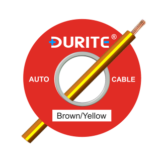 0-945-38 50m x 3.00mm² Brown-Yellow 27.5A Auto Single Core Cable