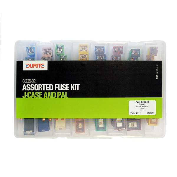 0 235 02 assorted durite j case pal fuses 0 235 02 durite 48 assorted j case and pal automotive fuse kit Low Profile Jcase Fuse Assortment at mifinder.co