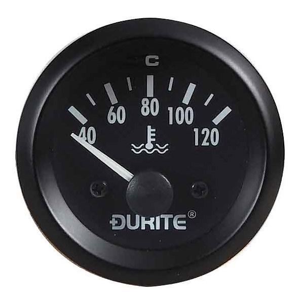 Durite 12//24V Illuminated Marine Water Temperature 52mm Gauge /& Sender 0-525-23