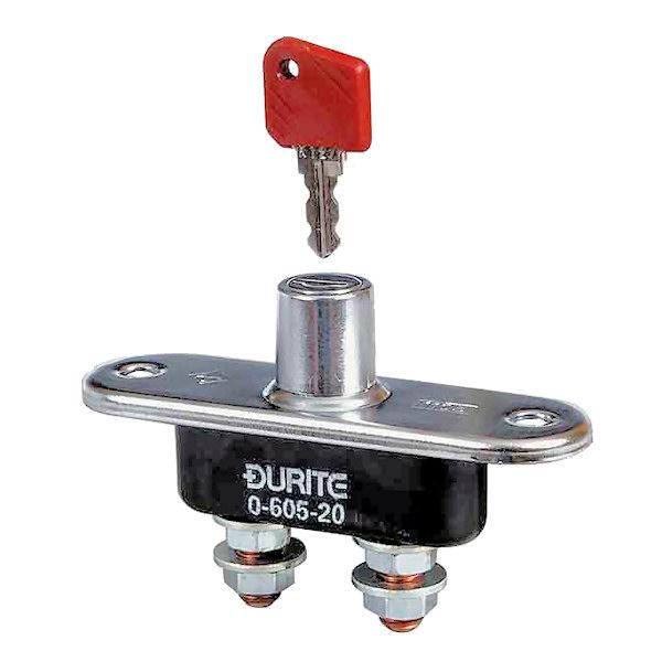 Genuine Durite 0-605-00 Isolatore Batteria Interruttore Principale 100A con chiave rimovibile