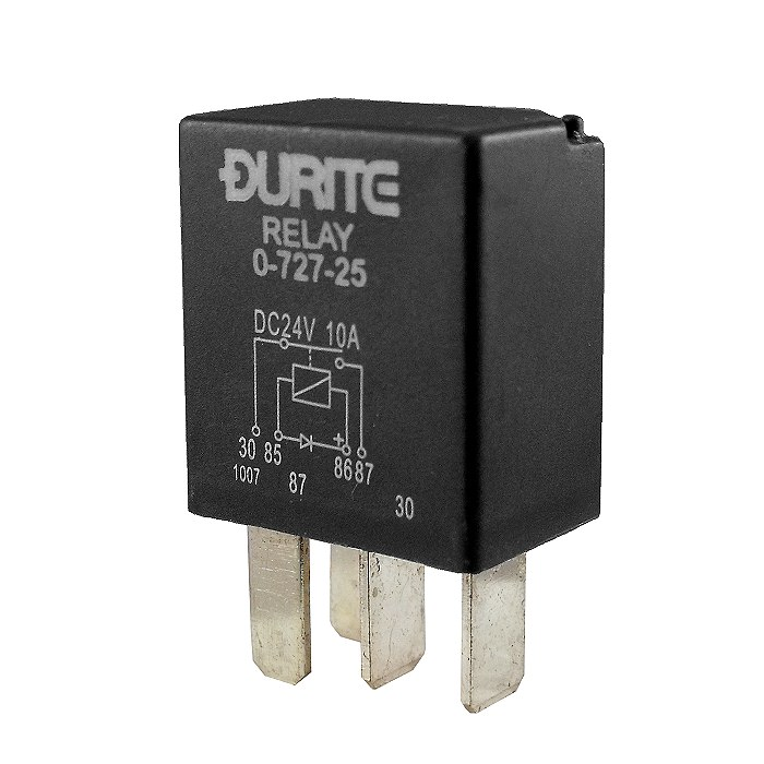 0 727 25 Durite 24v 10a Micro Make And Break Relay With Diode 2268 on relay electrical