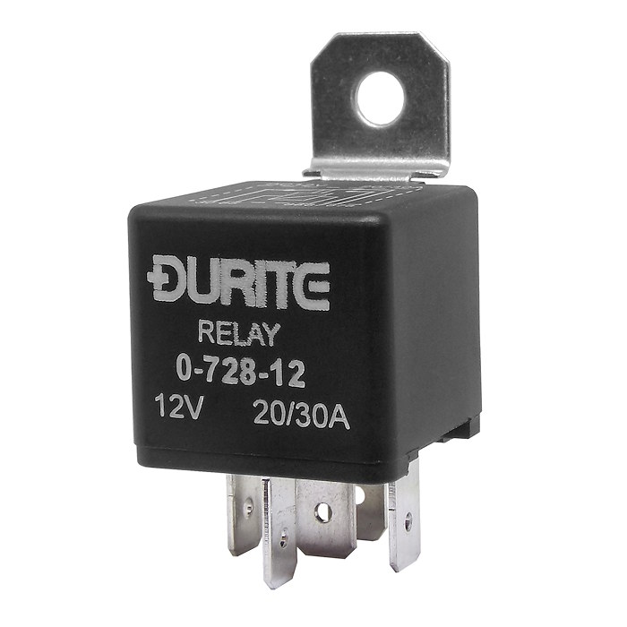 Arc Europe Ltd >> 0-728-12 | Durite 12V 20A-30A Mini Changeover Switch Relay