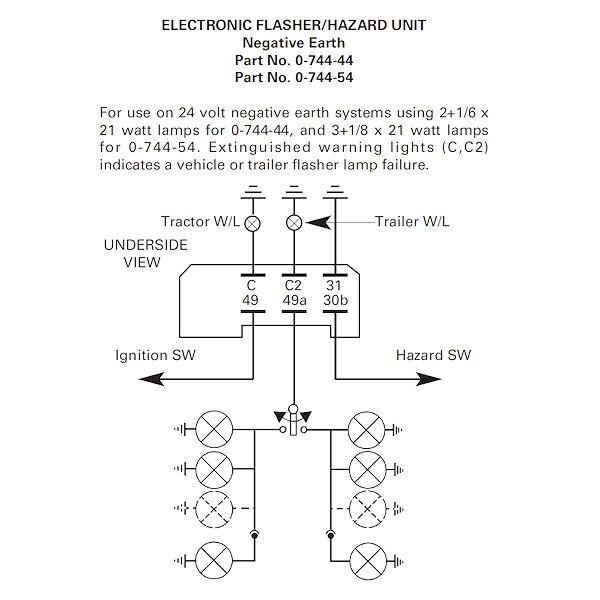 24v Flasher Hazard Unit 2 1 6 X 21w, 24v Flasher Unit Wiring Diagram