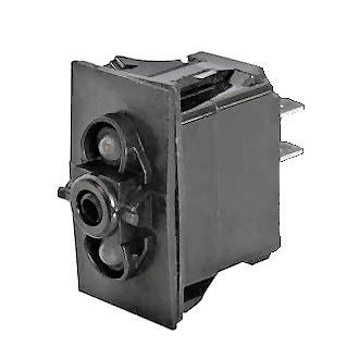 0-782-52 Durite Change Over SP LED Illuminated Rocker Switch Body 2 Lit  Position
