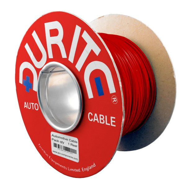 1mm² x 50m Brown//Red Single-Core PVC Auto Cable