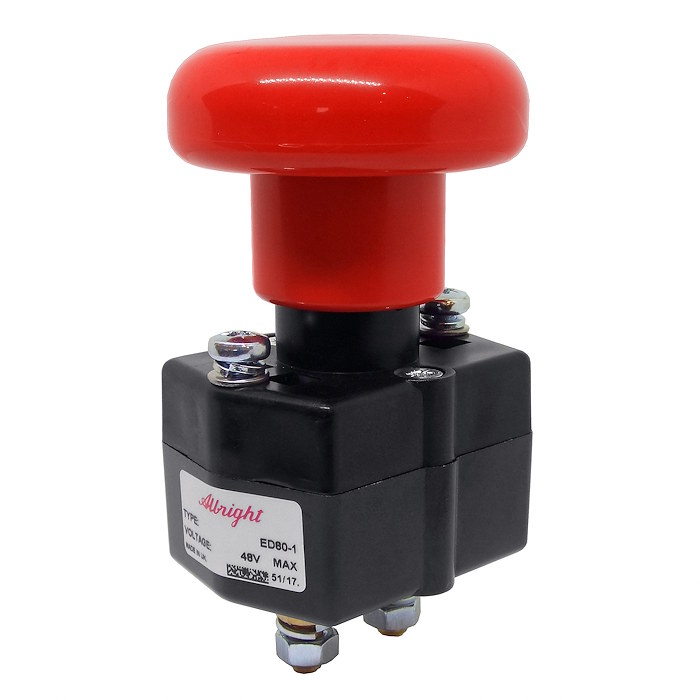Albright 80A At 48V DC Emergency Stop Switch
