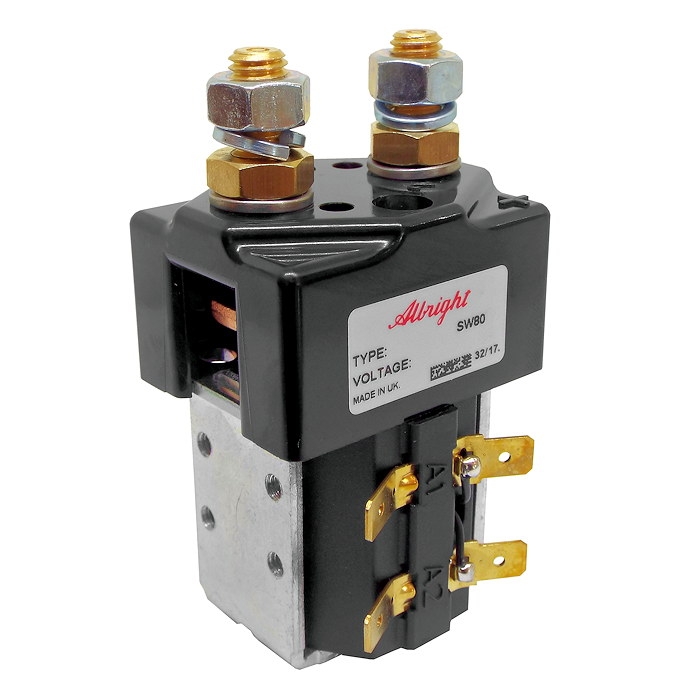 SW80-1 Albright Single Acting Solenoid Contactor 24V Intermittent