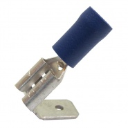 0-001-15 Pack of 50 Durite Coloured Crimp Terminal 6.30mm Piggyback Blue