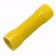Pack of Durite Coloured Crimp Terminal Butt Connector Yellow