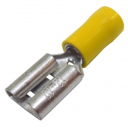 0-001-19 Pack of 50 Durite Coloured Crimp Terminal 9.50mm Push-On Yellow