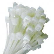 0-002-34 Pack of 100 Durite White Cable Ties 250mm x 4.8mm