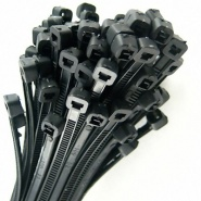 0-002-65 Pack 100 Durite Black Cable Ties 250mm x 4.8mm