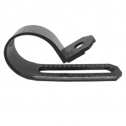 0-002-94 Pack of 25 Black Nylon P Clips for 14mm to 22mm Cable