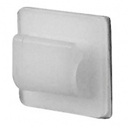 0-004-83 Pack of 25 White Adhesive Backed Nylon Cable Clips
