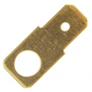 0-005-28 Pack of 50 6.30mm Blade Terminals with 5.00mm Ring