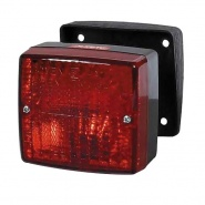 0-063-02 Square Rear Fog Lamp Surface Mount with Adjustable Pad