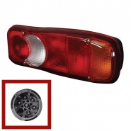 0-071-02 Universal Commercial Rear Lamp with Reflector and Connector